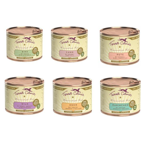 Terra Canis Classic Hundefutter 6 x 200g Dosen Mix by Zoolox