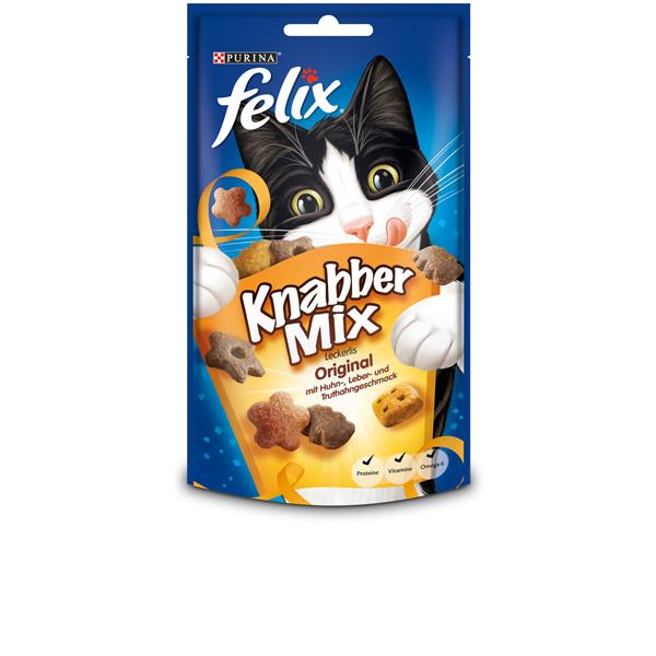 FELIX Knabber Mix Original 60g 4er Pack (4x60g)