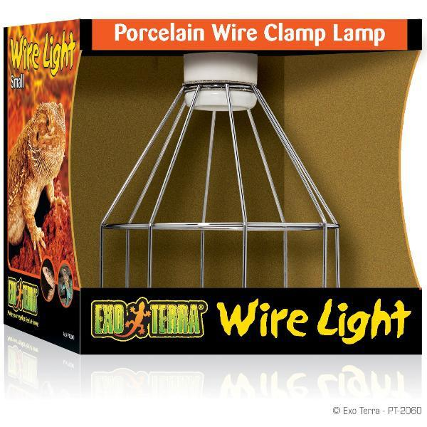 Exo-Terra Wire Light Porzellan Klemmlampe Small bis 150 W
