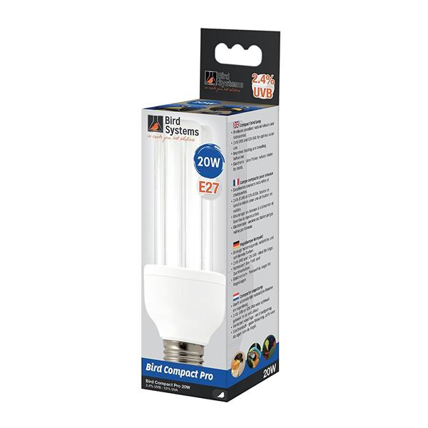 AS Bird Systems Compact Pro Lamp 2,4%UVB 20W Vogellampe