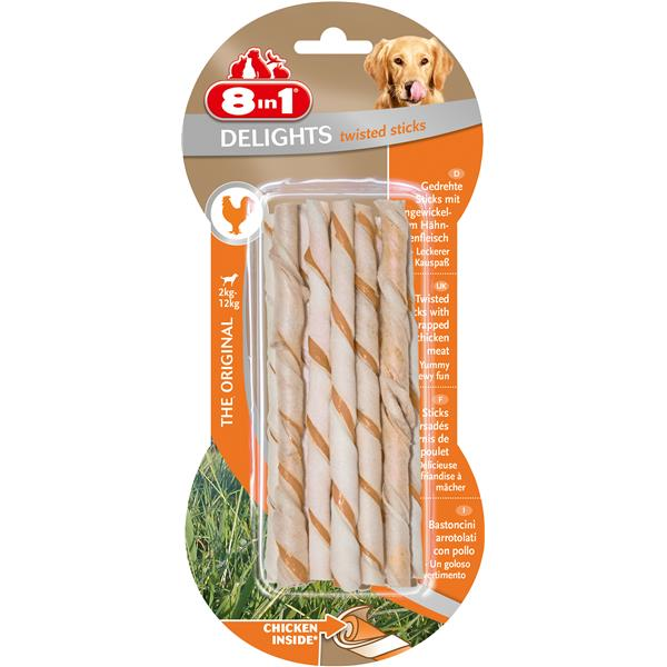Tetra 8in1 Delights Twisted Sticks Huhn 10er