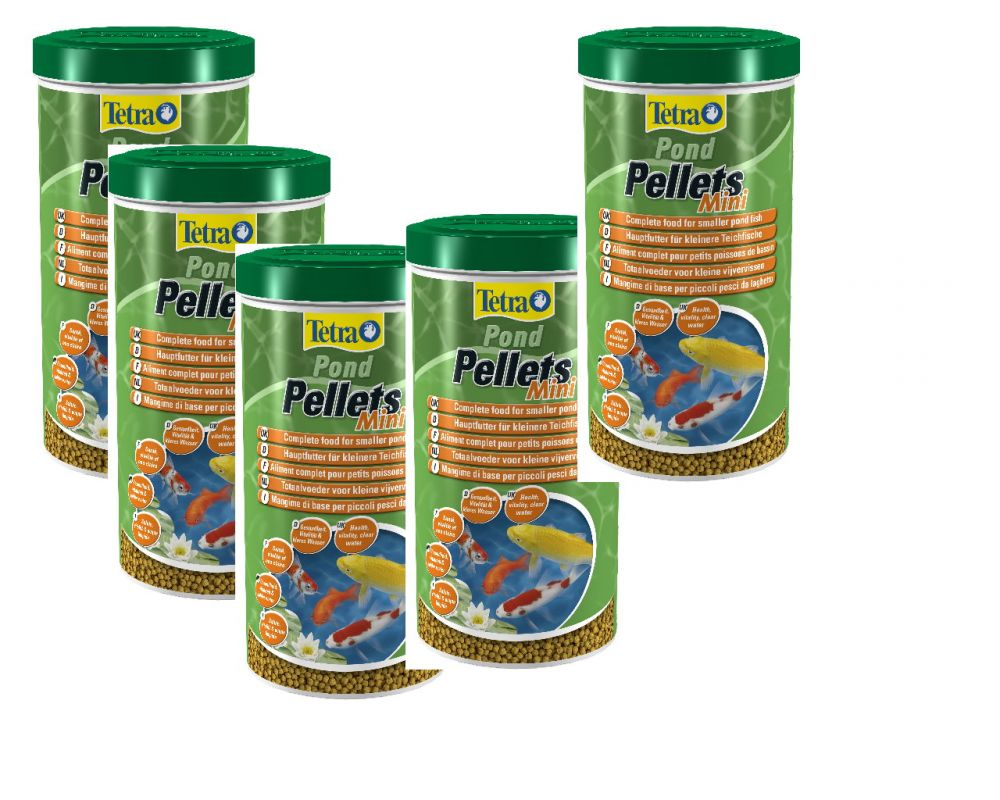Tetra pond teich pellets mini 1l teichfutter 10er 10 x for Gartenteichfische shop